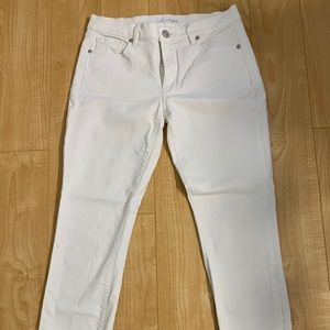 LOFT Jeans - Loft white skinny jeans